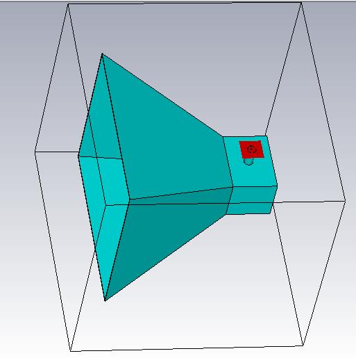 horn antenna model in cst