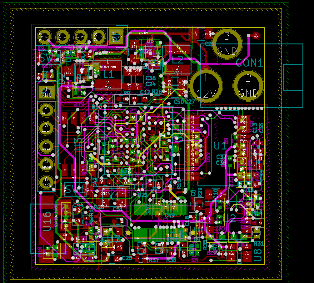 Homemade Synthetic Aperture Radar Henriks Blog Electronic Usb To Dmx512 Interface Circuit Design Program Kicad Microcontroller Pcb In Without Zone Fills